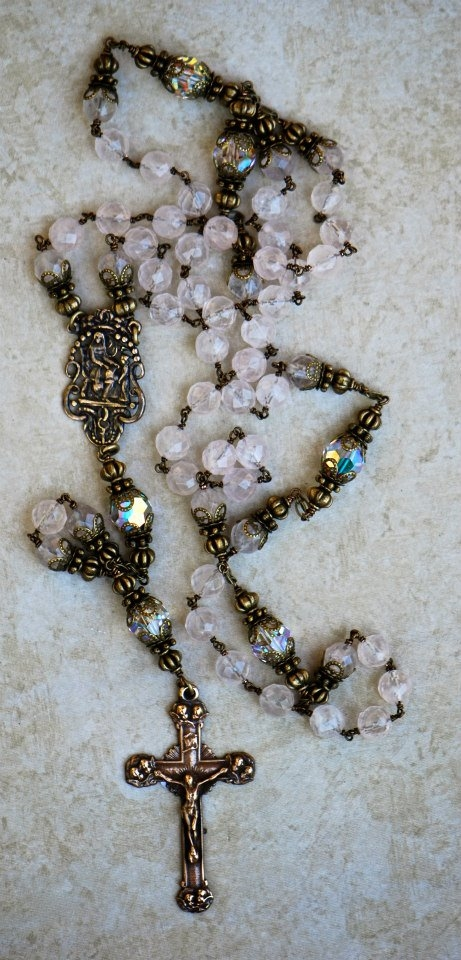 Rose Quartz Heirloom Rosary