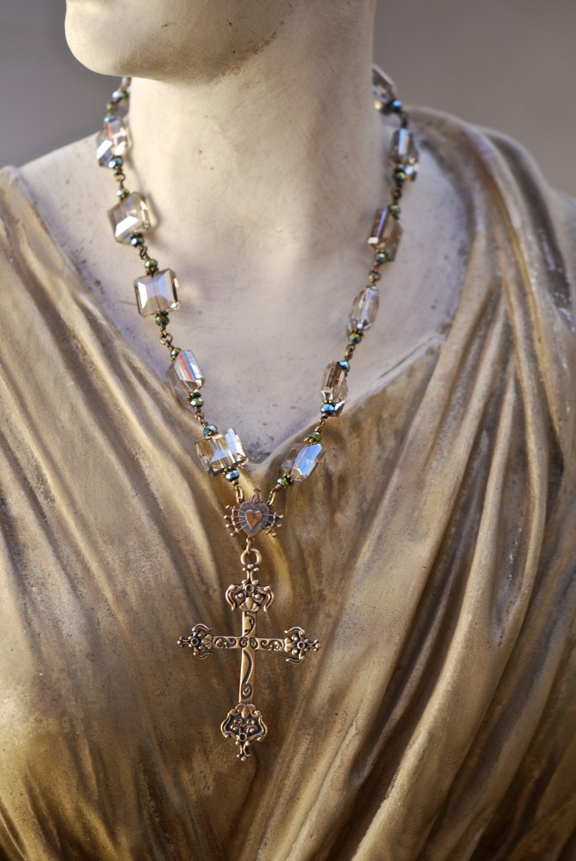 The Seraphym Necklace of the Holy Cross (Smoky)
