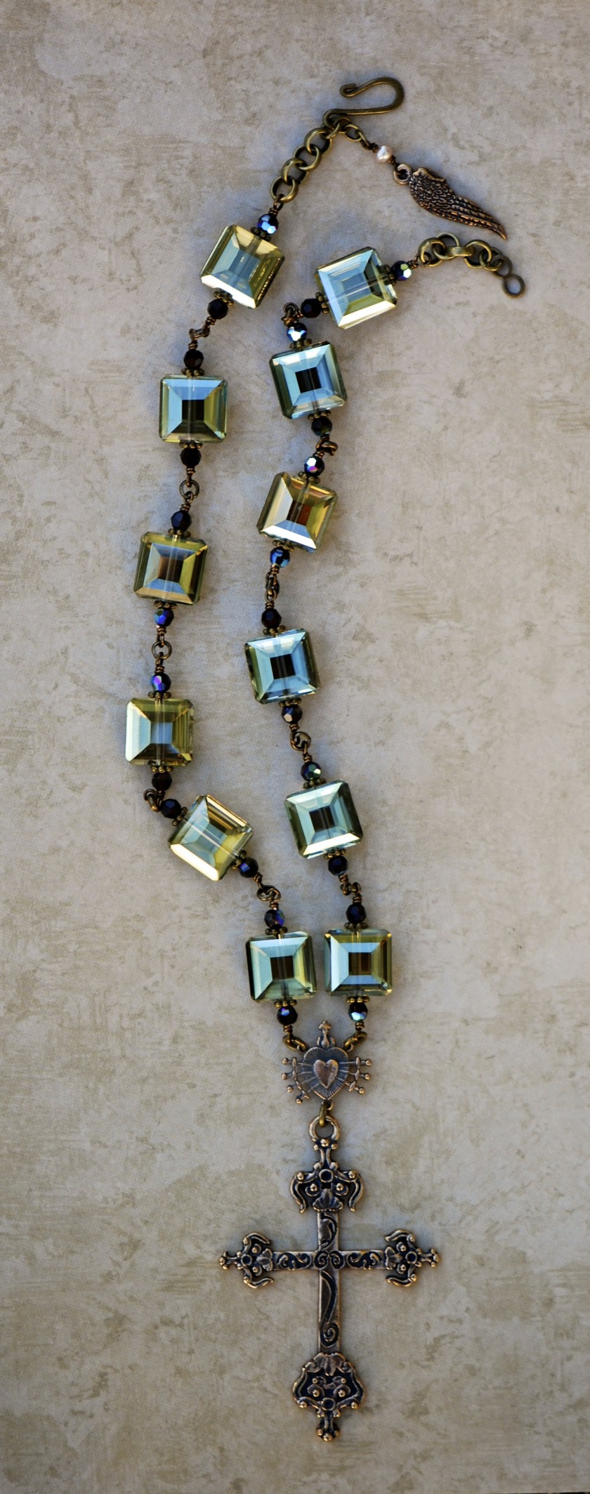 The Seraphym Necklace of the Holy Cross (Olive)