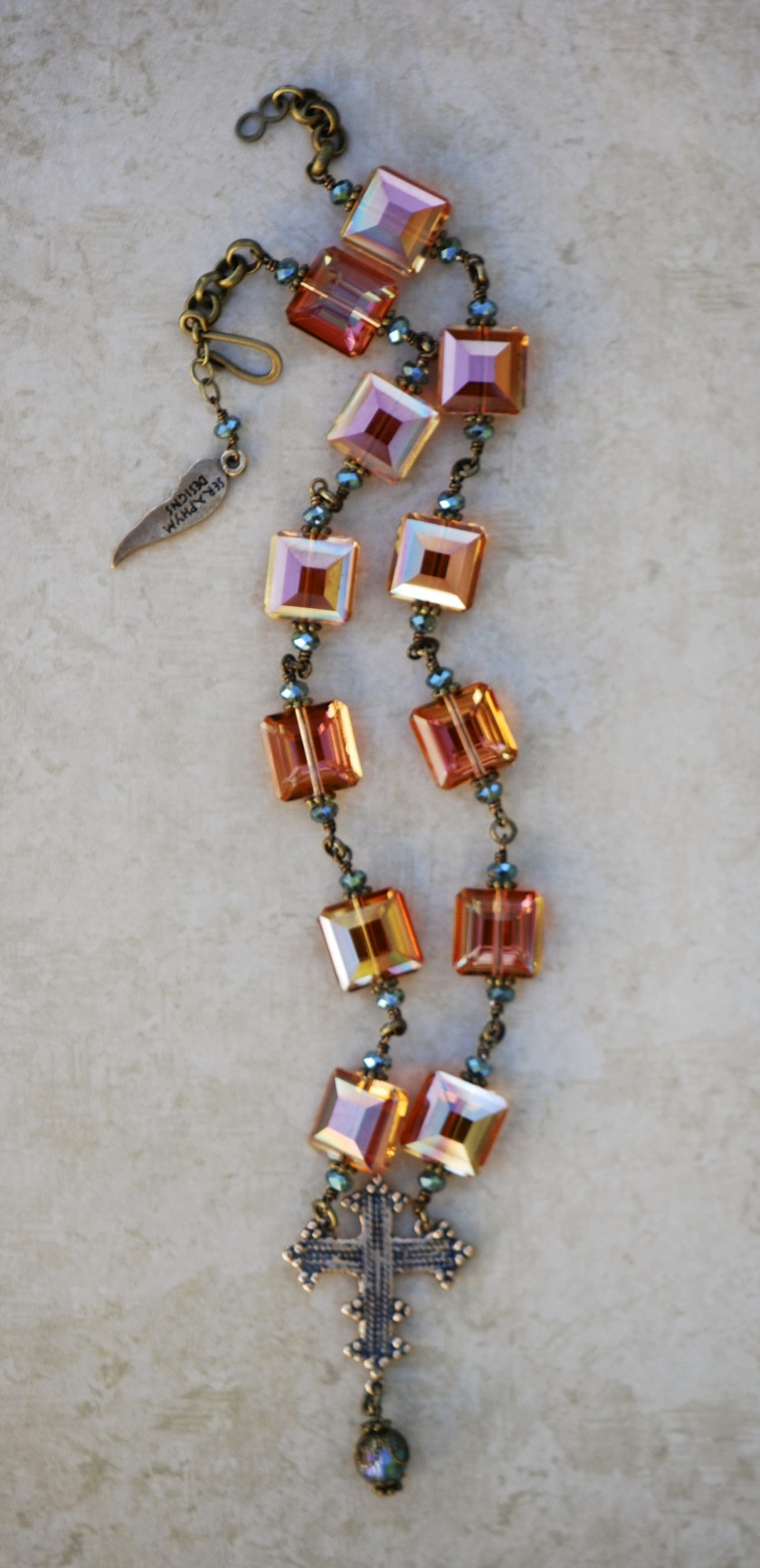 The Seraphym Necklace of the Holy Cross (apricot)