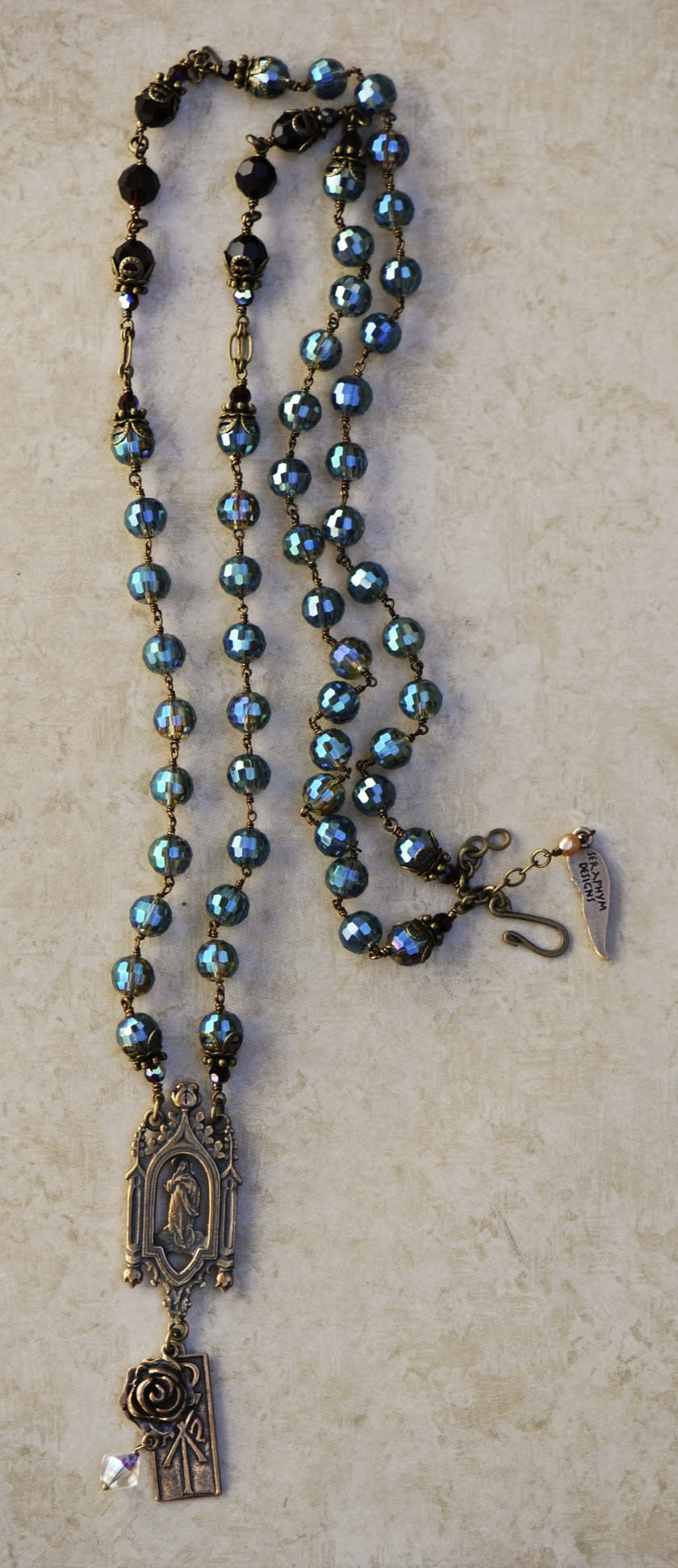 The Seraphym Necklace of Prayer (Aqua)