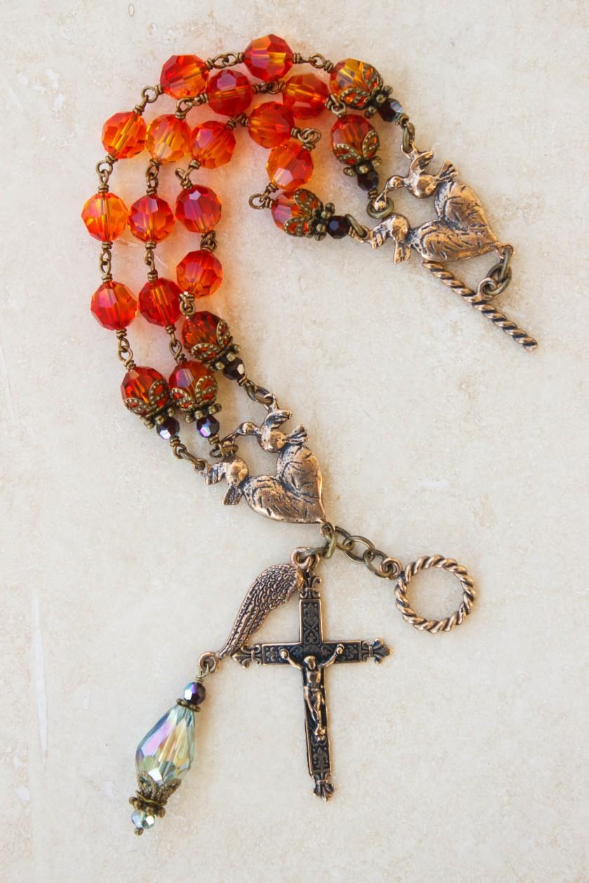 Fire and Garnet Crystal Bracelet