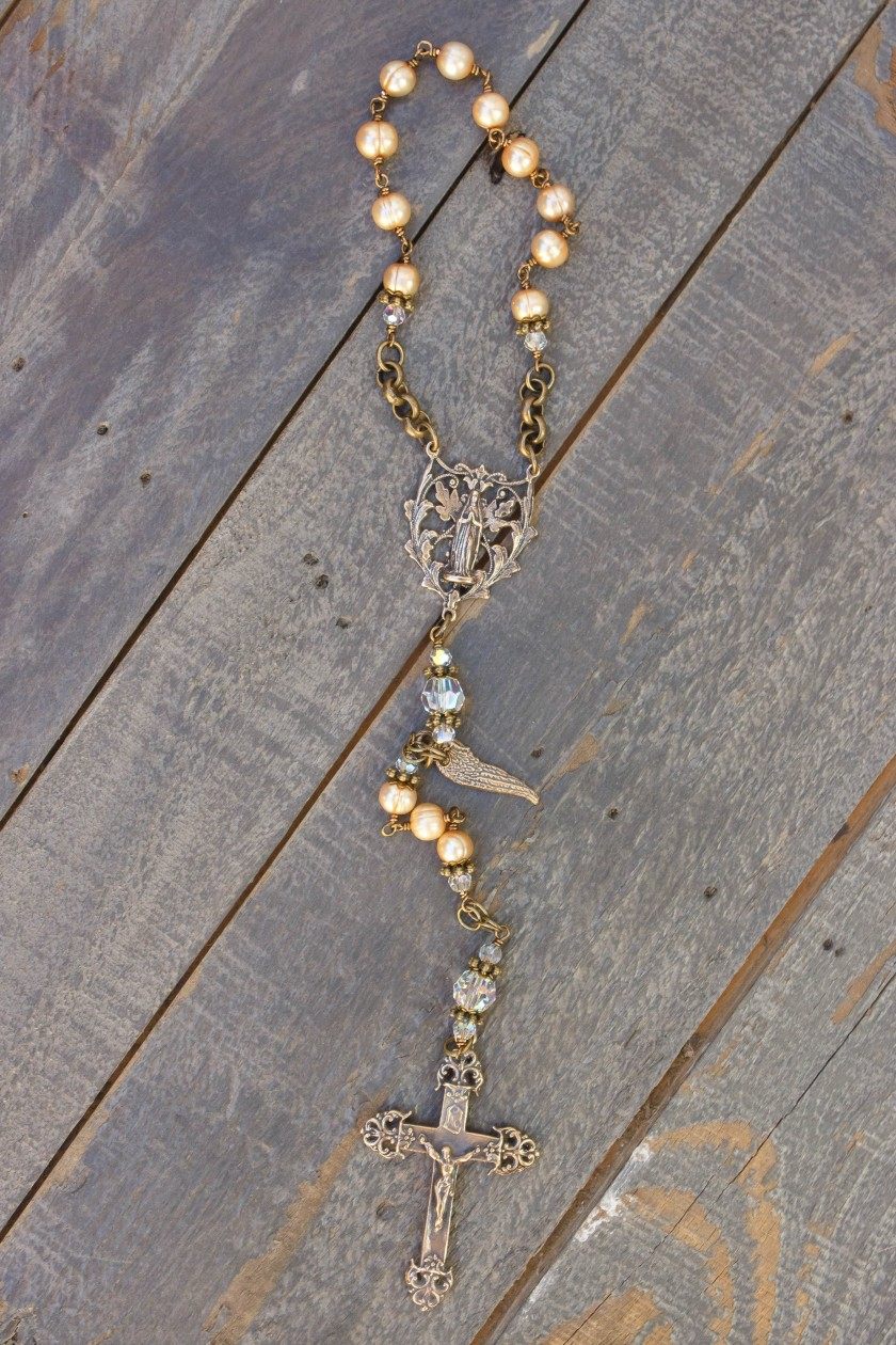 Gold Fresh Water Pearl Chaplet - 6mm