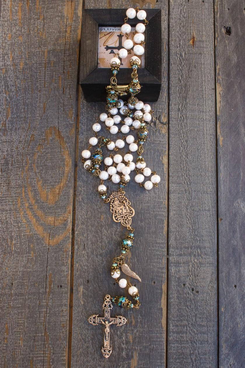 Cream Pearl Rosary