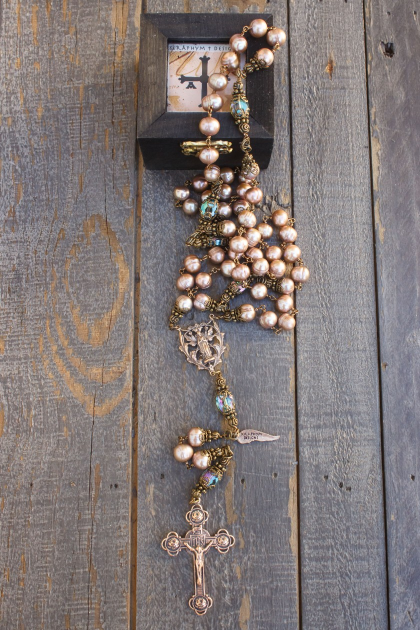 Rose Potato Pearls Rosary