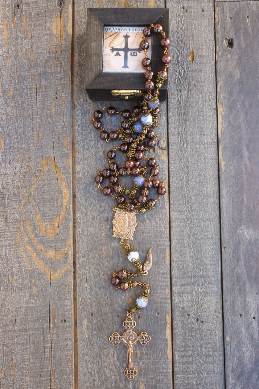 Garnet Stone Rosary