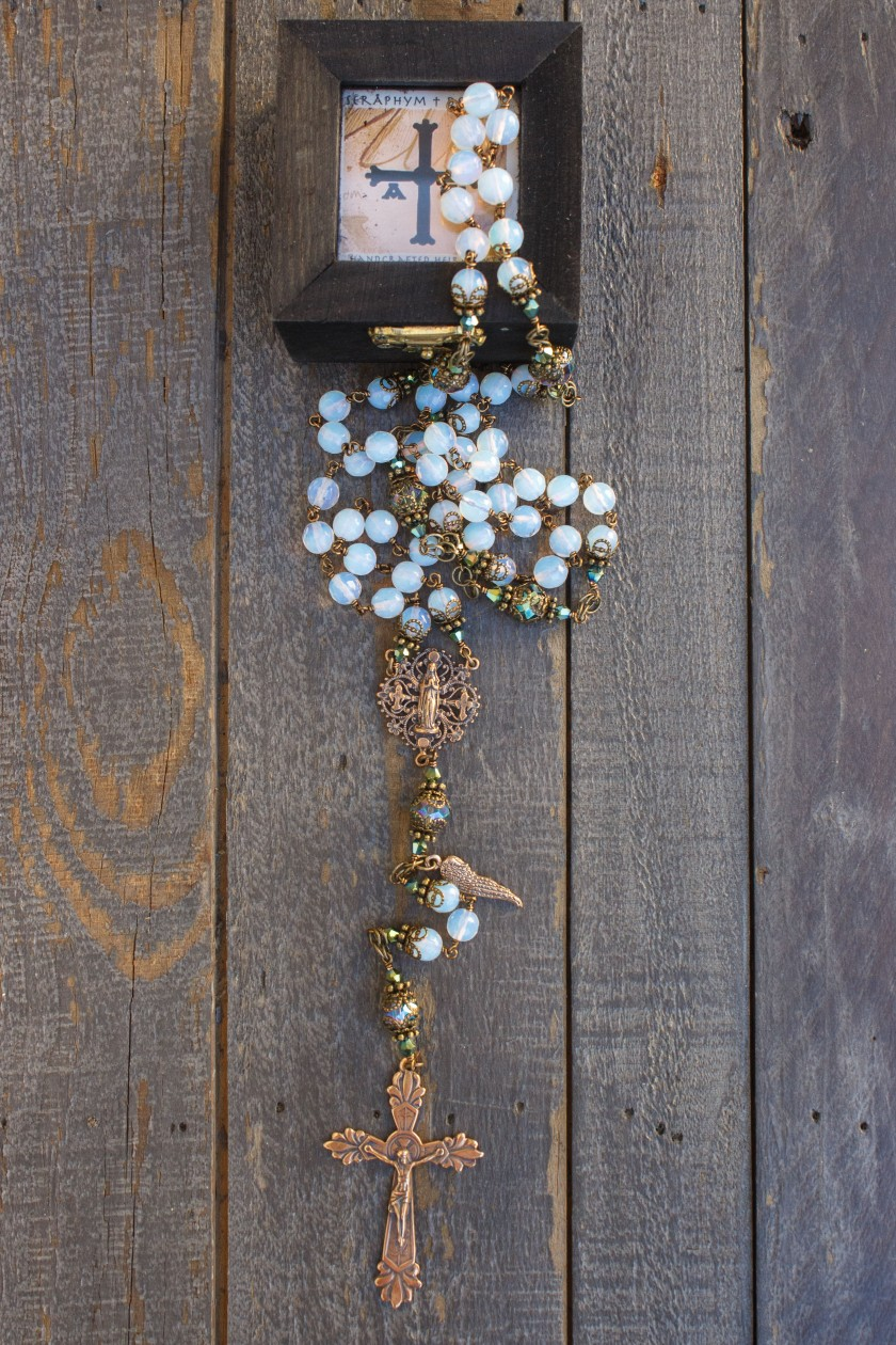 Faceted Oplaite Stones Rosary