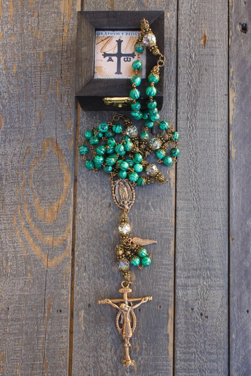 Natural Malachite Rosary