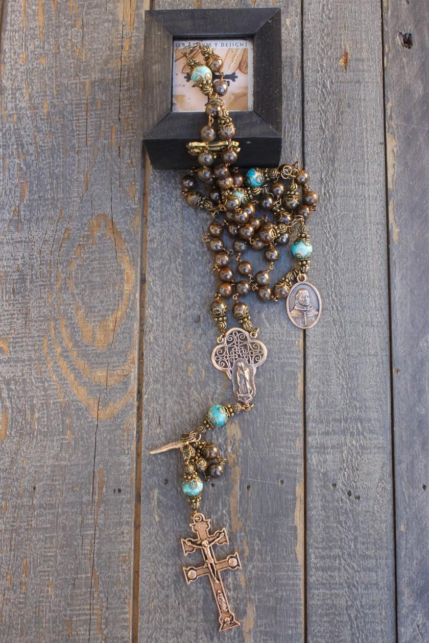 Natural Bronzite Rosary